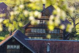 Appenzell, Appenzell Ausserrohden, Appenzellerhaus, Bauerhaus, Bäume, Frühling, Haus, Herisau, Ortsbild, Ostschweiz, Schweiz, Spring, Suisse, Switzerland, Tree, Trees, Wald, Weiler