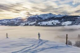 Appenzell, Appenzell Ausserrohden, Berge, Fotografie, Landschaftsfotografie, Morgen, Nebel, Nebelmeer, Photography, Schweiz, Schwellbrunn, Suisse, Switzerland, Säntis, Säntisbahn, Wetter, Winter, landscape photography