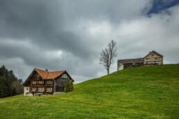 Appenzell, Appenzell Ausserrohden, Appenzellerhaus, Bauerhaus, Baum, Clouds, Frühling, Haus, Hügel, Ostschweiz, Schweiz, Spring, Suisse, Switzerland, Waldstatt, Wiese, Wolken