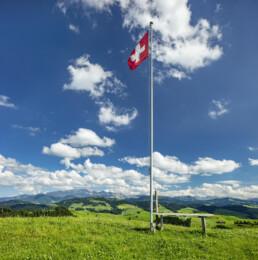 Alpen, Alps, Alpstein, Appenzell, Appenzell Ausserrohden, Aussichtsbank, Bank, Clouds, Ostschweiz, Schweiz, Schwellbrunn, Sommer, Suisse, Switzerland, Säntis, Wolken, summer