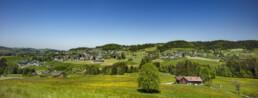 Appenzell, Appenzell Ausserrohden, Appenzellerhaus, Bauerhaus, Dorf, Hügel, Ostschweiz, Sommer, Sonnenschein, Streusiedlung, Suisse, Switzerland, Teufen, summer