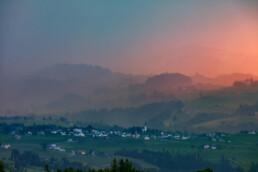 Abend, Abendrot, Appenzell, Appenzell Ausserrohden, Aussicht, Bühler, Dorf, Gewitter, Hügel, Ostschweiz, Schweiz, Sommer, Stein, Suisse, Switzerland, Thunderstorm, Tourismus, Wetter, summer