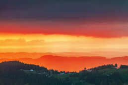Abend, Abendrot, Appenzell, Appenzell Ausserrohden, Aussicht, Bühler, Gewitter, Hügel, Ostschweiz, Schweiz, Sommer, Suisse, Switzerland, Thunderstorm, Tourismus, Wetter, summer