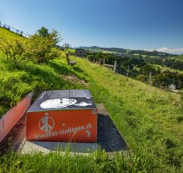 Appenzell, Appenzell Ausserrohden, Aussicht, Aussichtsbank, Bank, Ostschweiz, Schweiz, Suisse, Switzerland, Tourismus, Verkehr, Wanderweg, Weg, Wolfhalden